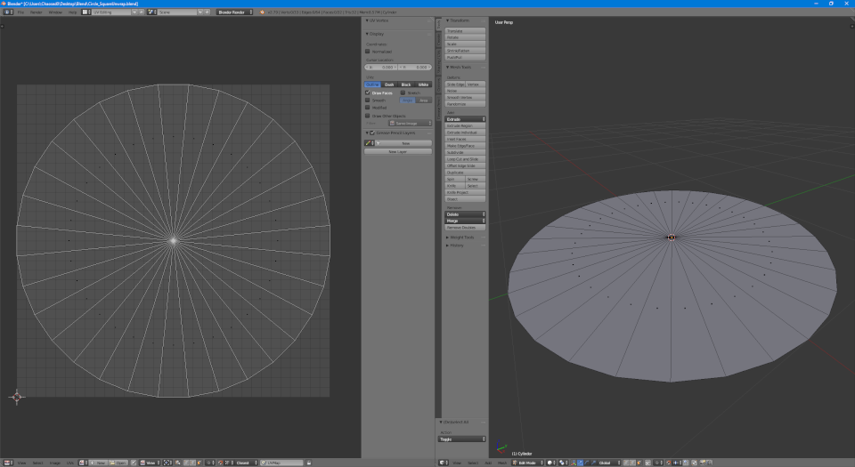 Geometry and UV for the inner piece of the shield decal