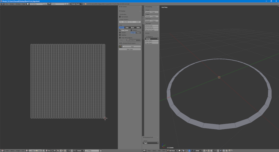Geometry and UV for the outline piece of the shield decal