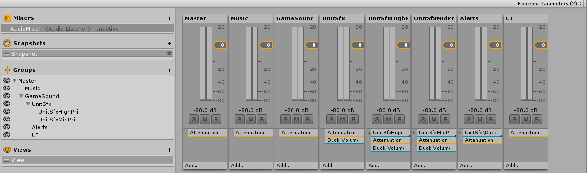 Audio mixer configuration. If you need accessibility help, contact me at chaosed0 at gmail.