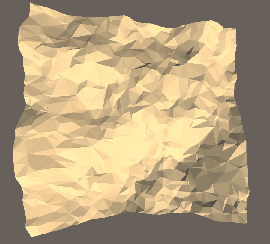 Delaunay-triangulated terrain using randomly spaced points