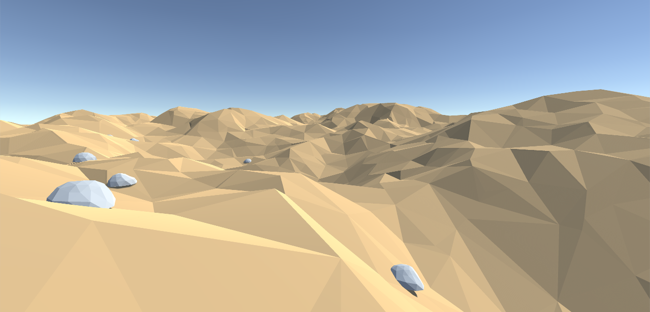 Closeup of terrain with detail meshes