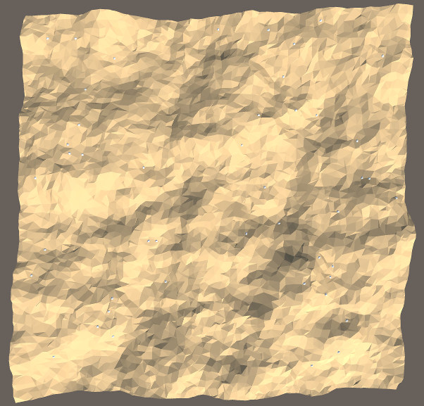 Zoomed-out terrain with detail meshes
