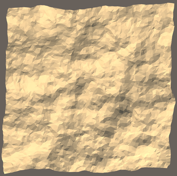 Delaunay-triangulated terrain using poisson-disc-sampled points combined with randomly-sampled points