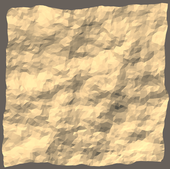 Delaunay-triangulated terrain using poisson-disc-sampled points
